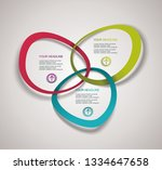 business infographics in circle ...