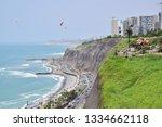 coastline in lima  peru | Shutterstock . vector #1334662118