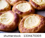 open buns with cottage cheese ... | Shutterstock . vector #1334670305
