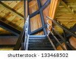 wooden stairs | Shutterstock . vector #133468502