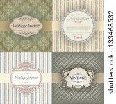 vintage frame | Shutterstock .eps vector #133468532