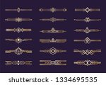 art deco ornament. 1920s... | Shutterstock .eps vector #1334695535
