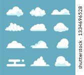 flat sky cloud. blue fluffy...
