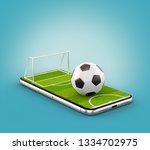 unusual 3d illustration of a... | Shutterstock . vector #1334702975