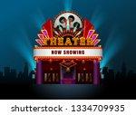 theater cinema building vector...   Shutterstock .eps vector #1334709935