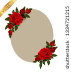 beautiful bouquet with red... | Shutterstock .eps vector #1334721215