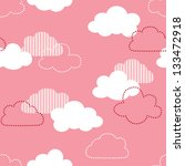 Stock photo jpeg seamless vintage cloud pattern good for baby shower birthday scrapbook greeting cards 133472918