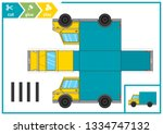 cut and glue a paper car.... | Shutterstock .eps vector #1334747132