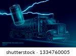 power battery electric truck... | Shutterstock .eps vector #1334760005