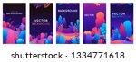 vector set of abstract...   Shutterstock .eps vector #1334771618