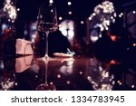 wine restaurant serving romance  | Shutterstock . vector #1334783945