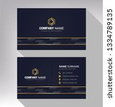 business model name card luxury ... | Shutterstock .eps vector #1334789135