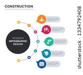 modern business infographic...   Shutterstock .eps vector #1334792408