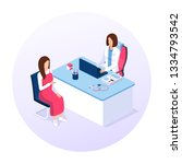 doctor and patient concept.... | Shutterstock .eps vector #1334793542