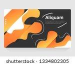 vector abstract  design banner... | Shutterstock .eps vector #1334802305
