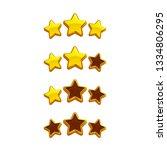 icons of gold stars  design...