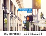 Hollywood Blvd Street Sign On A ...