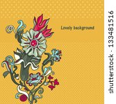 ornamental  floral vector... | Shutterstock .eps vector #133481516