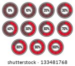 set of red round loader... | Shutterstock .eps vector #133481768