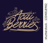 concept berries acai vector... | Shutterstock .eps vector #1334818982