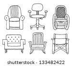 cartoon armchairs set