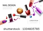 realistic nail polish concept | Shutterstock .eps vector #1334835785