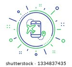 airplane travel line icon. trip ... | Shutterstock .eps vector #1334837435