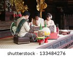 thai woman in a traditional... | Shutterstock . vector #133484276