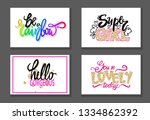 colorful graffiti fonts... | Shutterstock . vector #1334862392