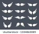 wings logo set. vector... | Shutterstock .eps vector #1334863085