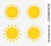 set of sun icons. flat vector...