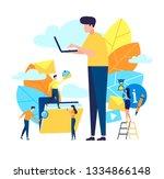 vector illustration  flat... | Shutterstock .eps vector #1334866148