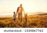 happy family father and... | Shutterstock . vector #1334867762