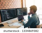 developing programming and... | Shutterstock . vector #1334869382