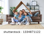 concept of housing and... | Shutterstock . vector #1334871122