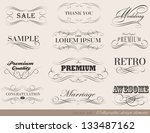 calligraphic design elements... | Shutterstock .eps vector #133487162