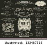 calligraphic design elements... | Shutterstock .eps vector #133487516