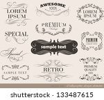 calligraphic design elements... | Shutterstock .eps vector #133487615