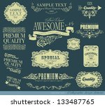 calligraphic design elements... | Shutterstock .eps vector #133487765