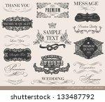 calligraphic design elements... | Shutterstock .eps vector #133487792