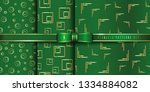 set of golden seamless pattern... | Shutterstock .eps vector #1334884082