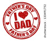 grunge father's day rubber... | Shutterstock .eps vector #133491752
