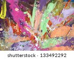 abstract painting background... | Shutterstock . vector #133492292