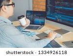 developing programmer... | Shutterstock . vector #1334926118