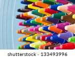 close up set of crayons and mix ... | Shutterstock . vector #133493996