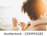 true tilt shift portrait from... | Shutterstock . vector #1334943182