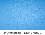 water drops on blue background | Shutterstock . vector #1334970872
