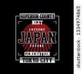 japan tokyo city tee element...   Shutterstock .eps vector #1334974865