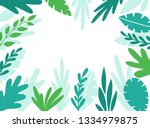 summer vector background with... | Shutterstock .eps vector #1334979875
