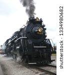 1940s era large freight steam... | Shutterstock . vector #1334980682
